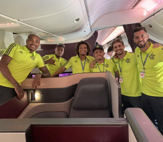 Flamengo viaja para a disputa do Mundial de Clubes