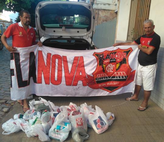 Embaixada Fla Nova promove doação de alimentos em Minas Gerais