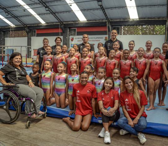 Ginastas do Mais Querido se reapresentam no ginásio Claudio Coutinho, na Gávea