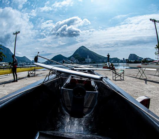 Remadores rubro-negros realizam os últimos ajustes para o Brasileiro de Barcos Curtos