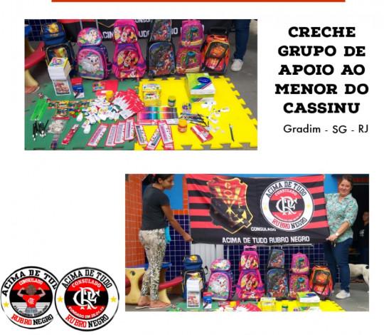 Consulado Acima de Tudo Rubro-Negro faz doação de material escolar