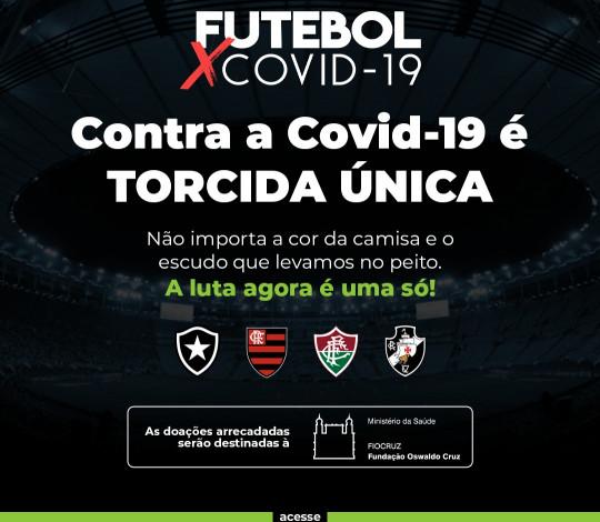 Clubes do Rio se unem em campanha de responsabilidade social para apoiar o combate ao coronavírus