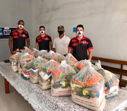 Consulado Fla- Catalão arrecada mais de uma tonelada de alimentos e materiais de limpeza