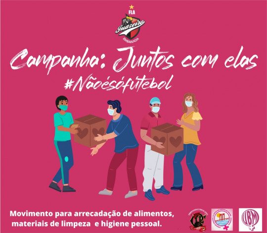 """Embaixada FLA-Juazeiro, em parceria com o CMDDM e a UBM, lança campanha social """"Juntos com Elas"""""""