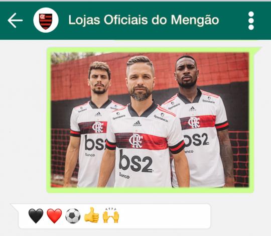 Veja como comprar o novo Manto II nas Lojas Oficiais do Flamengo pelo WhatsApp
