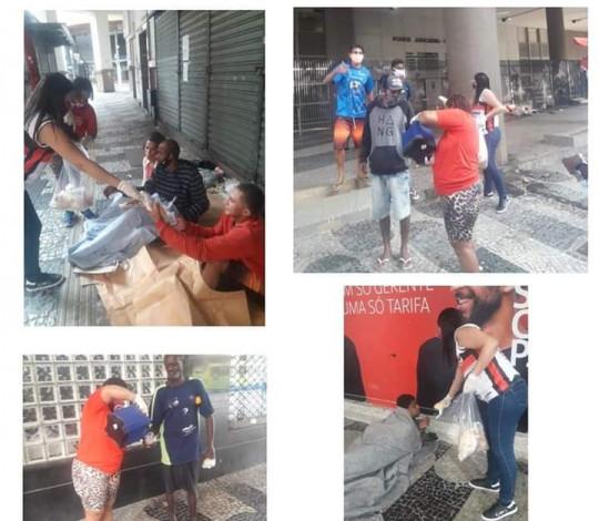 Movimento Rubro-Negro vai às ruas de Niterói distribuir café da manhã aos necessitados