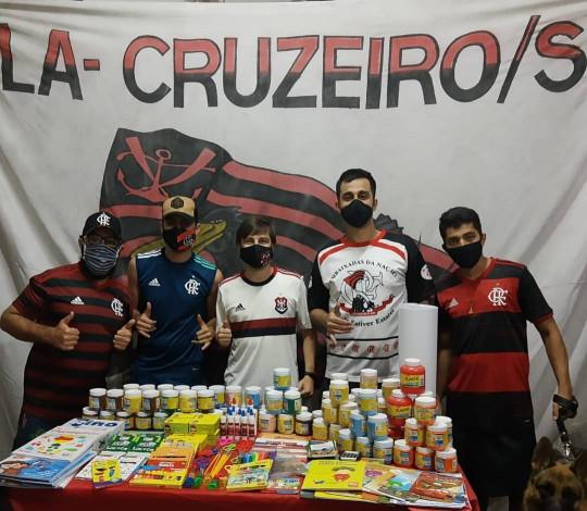 Embaixada Fla-Cruzeiro realiza ação social em prol da Instituição Casa Lar Esmeralda
