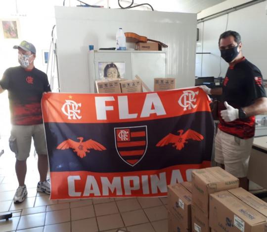 Consulado FLA CAMPINAS realiza doação de 1.6 tonelada de alimentos em comunidades carentes