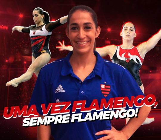 Uma vez Flamengo, sempre Flamengo! Daniele Hypolito está de volta ao Rubro-Negro