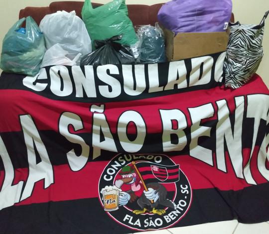 Consulado Fla São Bento-SC realiza campanha do agasalho