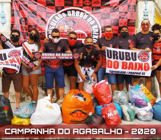 Urubu do Baixo participa de campanha do agasalho