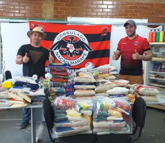 Consulado Nação Marapé arrecada meia tonelada de alimentos para famílias carentes