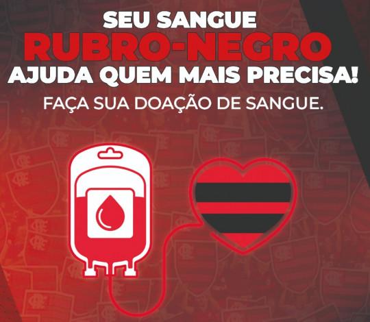 """Flamengo promove campanha """"Sangue Rubro-Negro"""", em parceria com Hemorio"""