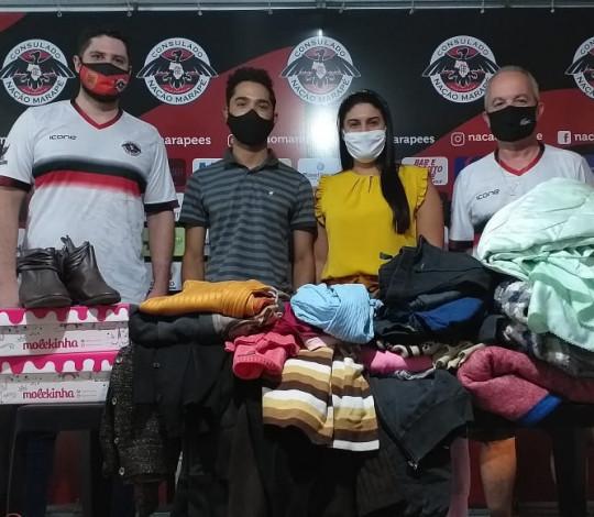 Consulado Nação Marapé recolhe agasalhos para atender famílias carentes contra o frio