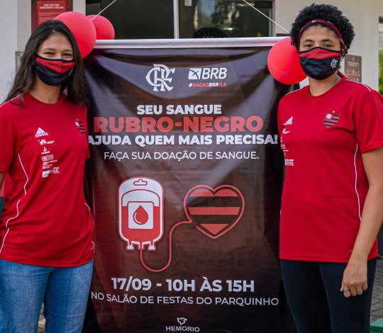 Treinos do polo aquático do Mengão foram cancelados para atletas doarem sangue