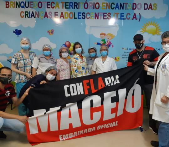Embaixada ConFLAria Maceió faz ação na ala de pediatria do Hospital Universitário da região