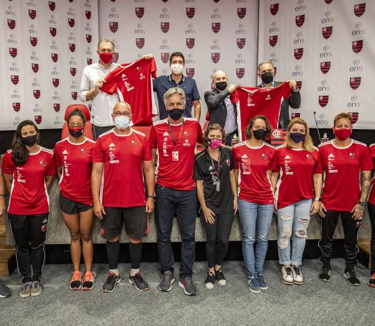 Em coletiva na Gávea, Flamengo e ENS apresentam parceria para os esportes olímpicos