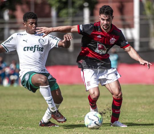 De virada, Mengão vence o Palmeiras por 2 a 1 pelo Brasileiro Sub-20