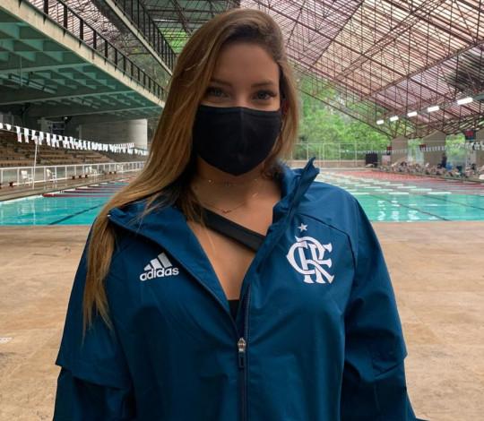 Laura Micucci participa de treinamento do Dueto Olímpico brasileiro, em São Paulo