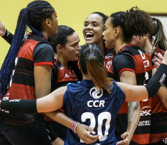 Sesc RJ Flamengo enfrenta o Itambé Minas em clássico da Superliga feminina de vôlei