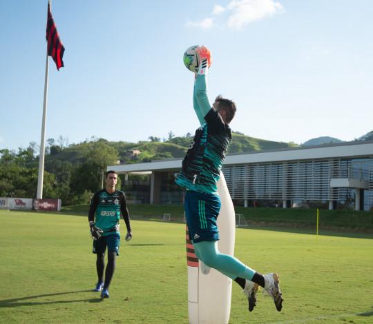 Flamengo finaliza preparação para o confronto contra o Bahia, pelo Brasileirão