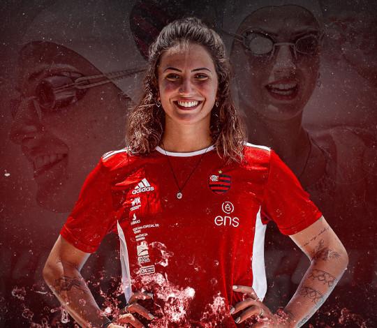 Nadadora mais jovem do Brasil na Rio 2016, Gabrielle Roncatto é mais um reforço do Flamengo ENS