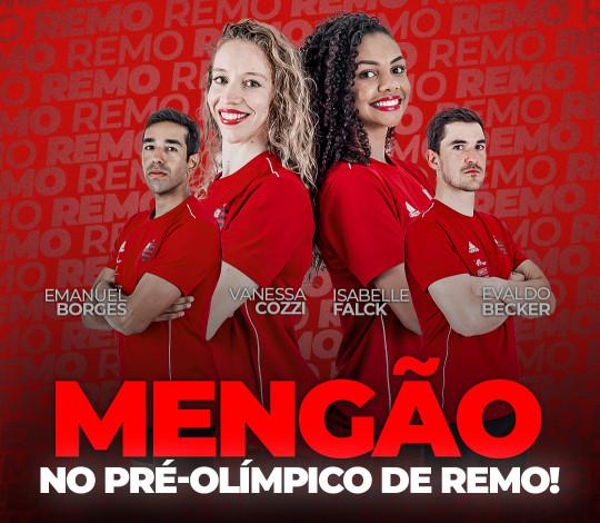 Remadores rubro-negros se classificam para o Pré-Olímpico de Remo