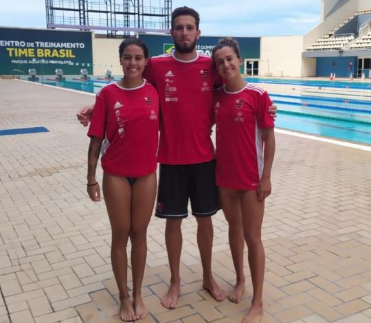 Nadadores rubro-negros realizam bateria de testes no CT Time Brasil