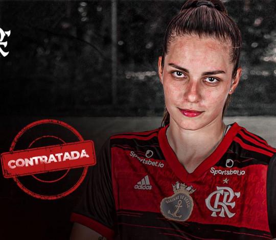 Dani Ortolan chegou! Artilheira fecha com o Flamengo e é o quinto nome confirmado
