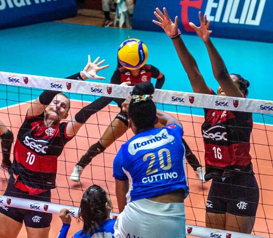 Sesc RJ Flamengo é derrotado pelo Itambé Minas na Superliga feminina de vôlei