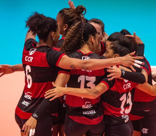 Sesc RJ Flamengo volta a vencer na Superliga feminina de vôlei