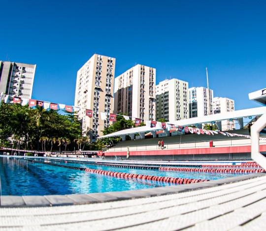 Jovens nadadores da Gávea participam de tomada de tempo das categorias Infantil e Juvenil