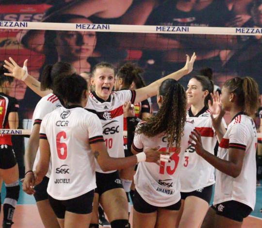 Sesc RJ Flamengo abre mata-mata da Superliga feminina de vôlei com vitória