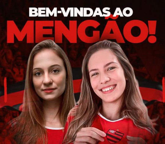 Carolina Ramos e Camila Barros são do Mengão!