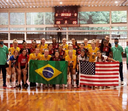 Flamengo supera Seleção da NCAA por 3 sets a 0 em amistoso na Gávea