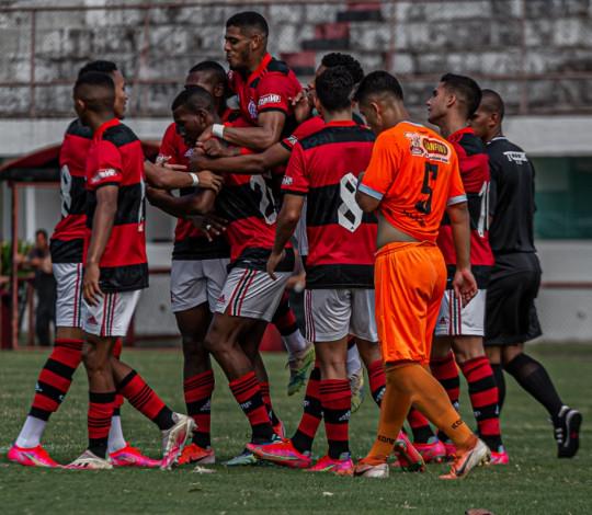 Na Gávea, Flamengo vence o Nova Iguaçu por 3 a 0 pelo Carioca Sub-20