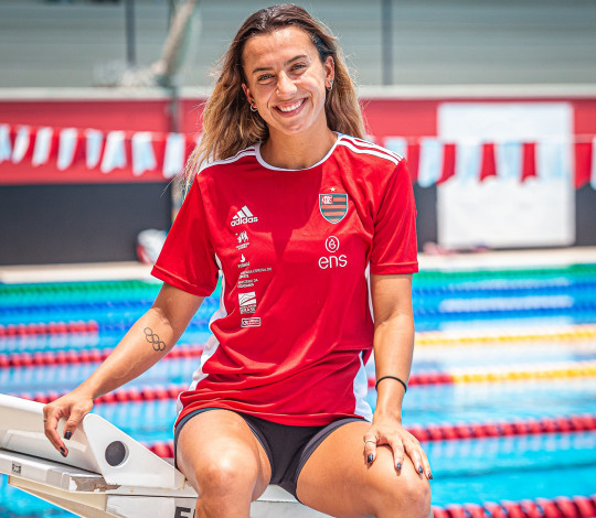 """Garantida na Olimpíada, Larissa Oliveira afirma: """"Será uma honra representar o Mengão em Tóquio"""""""