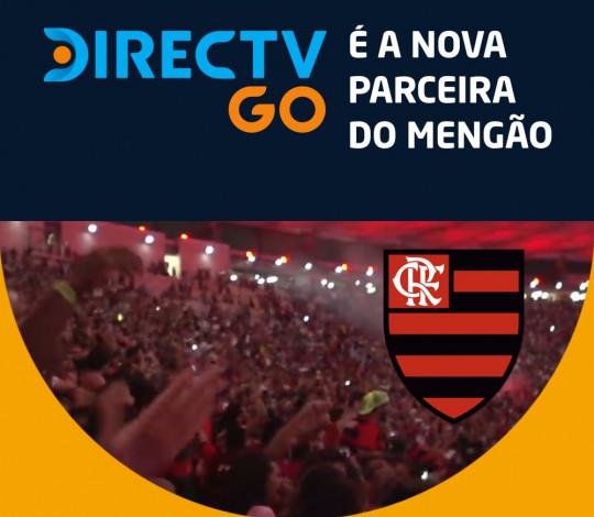 DIRECTV GO é a nova patrocinadora oficial do Flamengo