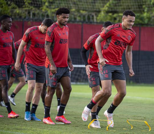 Flamengo realiza último treino antes do jogo da volta contra o Coritiba, pela Copa do Brasil