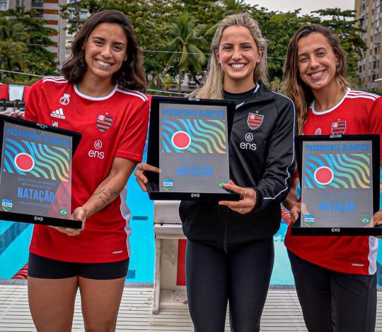 Homenagem merecida: Naná Almeida, Gabi Roncatto e Larissa Oliveira carimbam passaporte para Tóquio