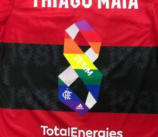 Flamengo entrará em campo com números das cores da bandeira LGBTQIA+ e Mantos serão leiloados