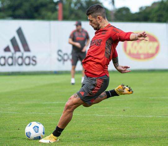 Flamengo conclui preparação para o confronto contra o Atlético-MG, em Belo Horizonte