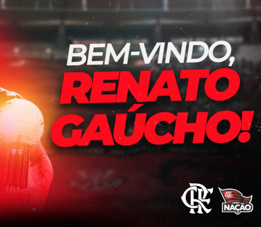 Renato Gaúcho é o novo técnico do Flamengo