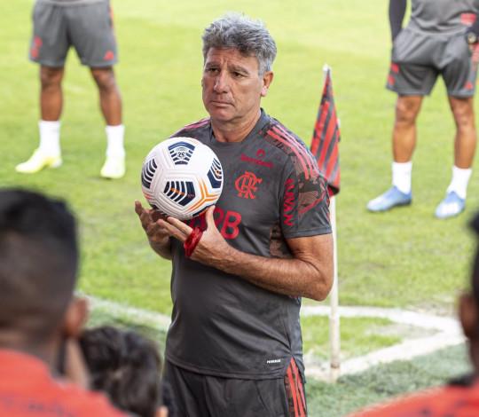 Renato Gaúcho comanda o primeiro treino como técnico do Flamengo