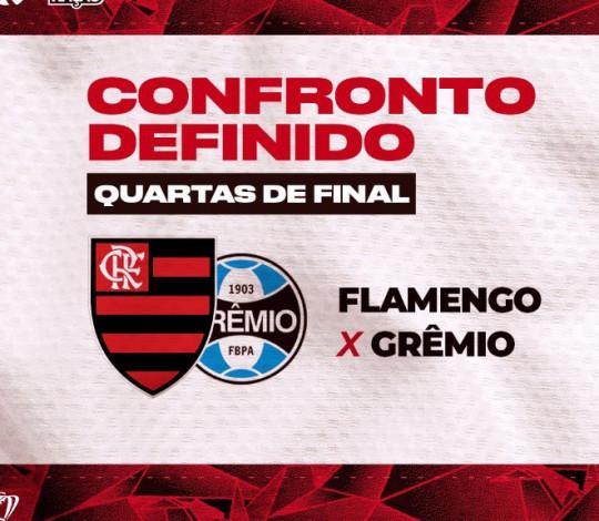Flamengo enfrenta o Grêmio nas quartas de final da Copa do Brasil