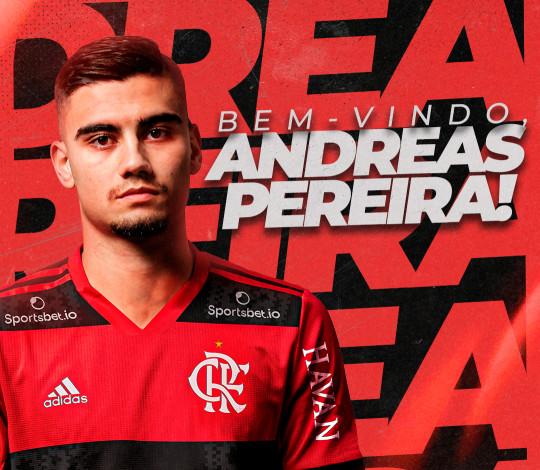 Flamengo acerta contratação de Andreas Pereira, do Manchester United