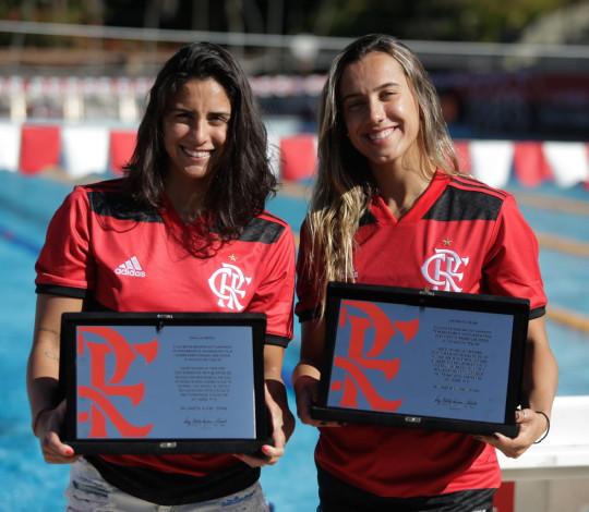 Naná Almeida e Larissa Oliveira são homenageadas por participação nos Jogos Olímpicos