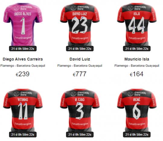 Flamengo irá leiloar camisas autografadas do primeiro jogo da semifinal contra o Barcelona (EQU)