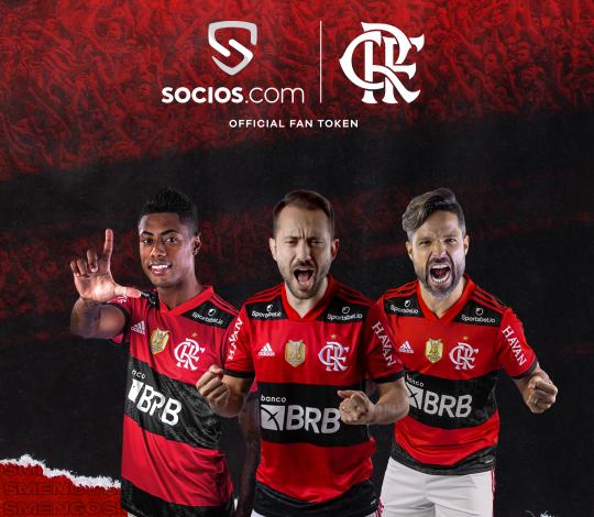 Flamengo terá maior oferta de Fan Tokens da América Latina pela Socios.com; venda inicia terça (19)