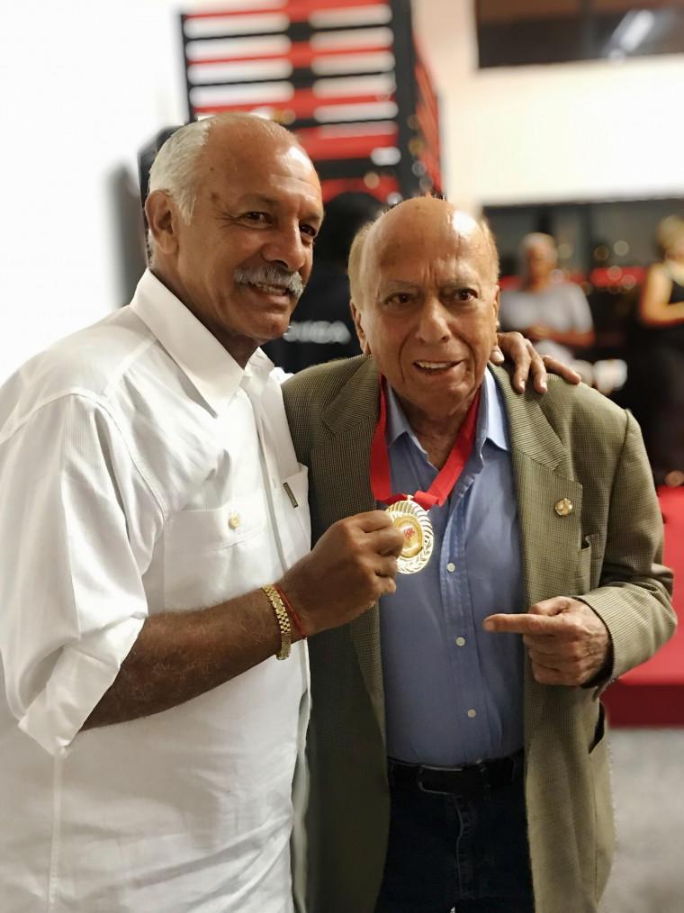 Maestro Junior e George Helal (Divulgação/ Flamengo)